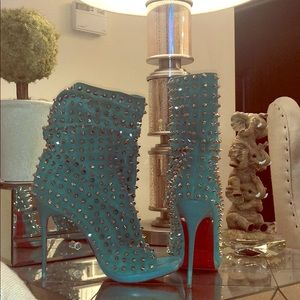 Christian Louboutin 120 Guerilla Spike suede boots
